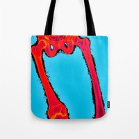 iron giant Tote Bags featuring Giant by Alec Goss