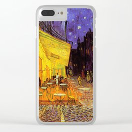 Vincent Van Gogh Cafe Terrace At Night Clear iPhone Case
