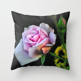 Rose And The Litlle Black Beetle Throw Pillow