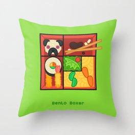 Bento Boxer Throw Pillow
