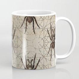 Spider Eurypelma on sacred geometry pattern Coffee Mug