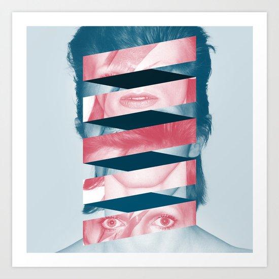 Bowie twist Art Print