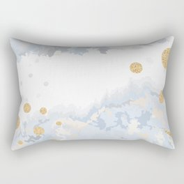 Blue & Gold Painting Rectangular Pillow