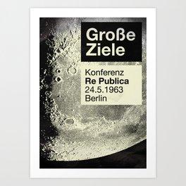 re:trospektive 1963: Große Ziele Art Print