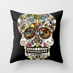 El dia de los muertos (Skull) Throw Pillow
