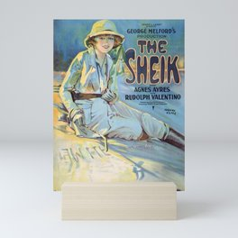 The sheik / movie poster Mini Art Print