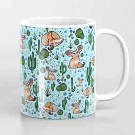 Fennec Foxes in Blue Coffee Mug