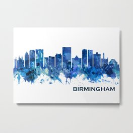 Birmingham Alabama Skyline Blue Metal Print