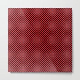 Flame Scarlet and Black Polka Dots Metal Print
