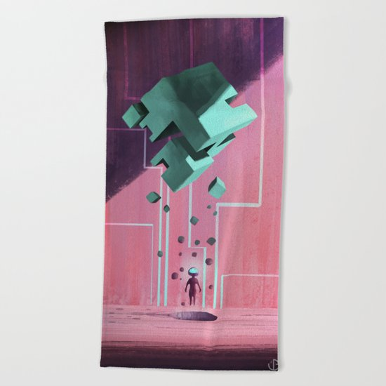 Cube. Beach Towel