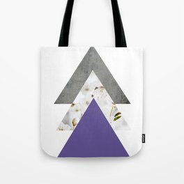 Ultra Violet Blossoms Arrows Tote Bag