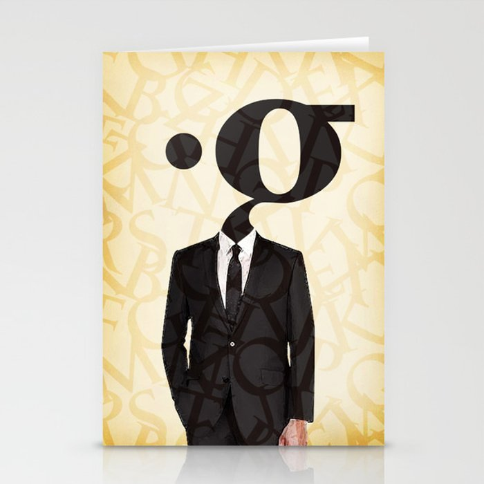 mr .g in a suit Stationery Cards