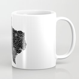 Texas Black Map Coffee Mug
