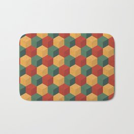 Retro Cubic Bath Mat