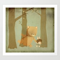 Oso Follow Me Art Print