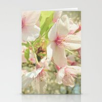 cherry blossom Stationery Cards featuring Cherry Blossom by Cassia Beck