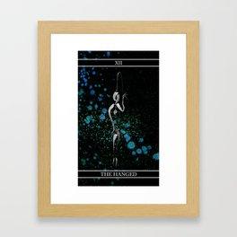 A Tarot of Ink Major Arcana XII The Hanged Man Framed Art Print