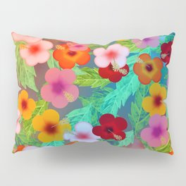 Colorful Hibiscus Pillow Sham