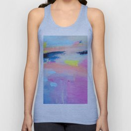 Dreamy Abstract pink Art  Unisex Tank Top