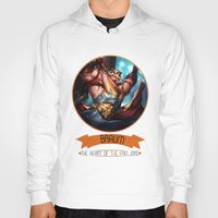 league of legends Hoodies featuring League Of Legends - Braum by TheDrawingDuo