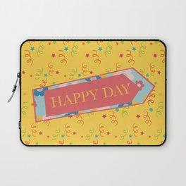 Happy day, joyful text Laptop Sleeve