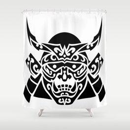 Samurai Mask Hannya Shower Curtain