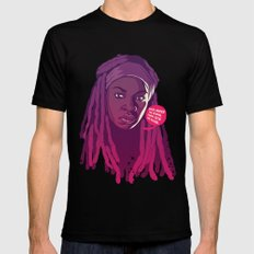 THE WALKING DEAD - Michonne MEDIUM Black Mens Fitted Tee
