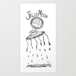 Jelly Moon V.2 Art Print