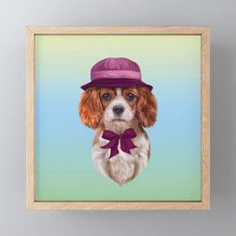 Drawing dog breed Cavalier King Charles Spaniel Framed Mini Art Print