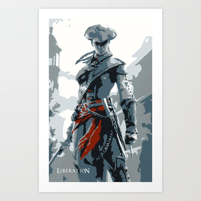 Assassin S Creed Iii Liberation Aveline Minimalistic Art Print By