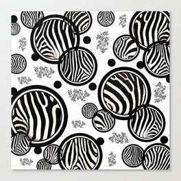 Zebra Circles Canvas Print