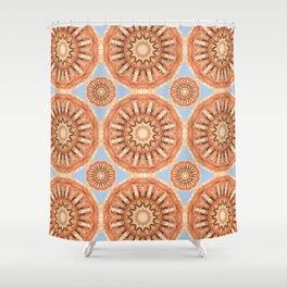 Rust-Art / Colors of Rust / mandala-style-rust Shower Curtain