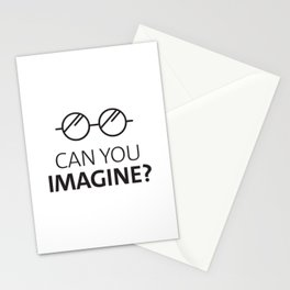 Can You Imagine John Classic Glasses Design Stationery Cards
