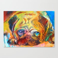 Pop Art Pug Canvas Print