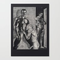 olaf Canvas Prints featuring Olaf by vooduude