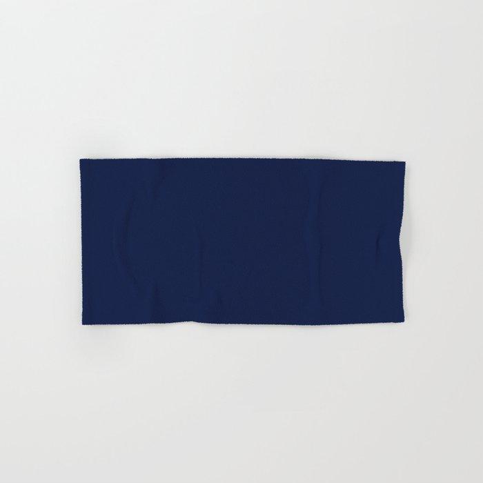 Navy Blue Minimalist Hand & Bath Towel