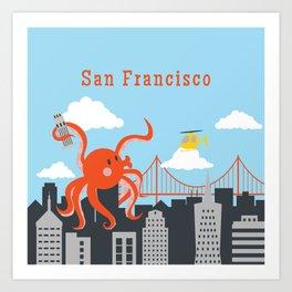 Giant Octopus in San Francisco Art Print