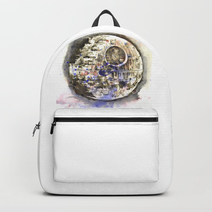 Star War Art Painting The Death Star Backpack