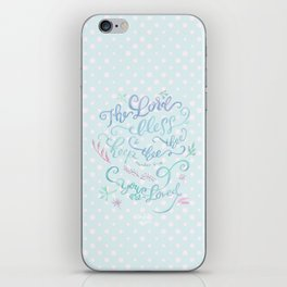 You Are Loved Mom - Number 6:24 - Polka dots iPhone Skin
