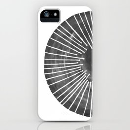 Black and White Circle iPhone Case