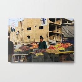 Fruit Vendor; Tripoli, Lebanon. Metal Print