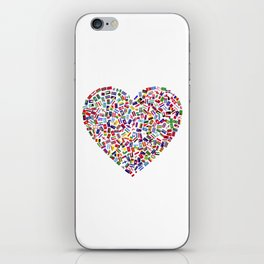 Heart flags countries iPhone Skin