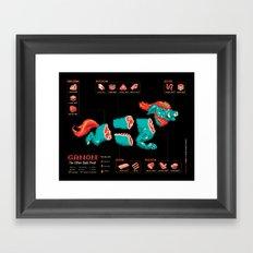 Ganon: The Other Dark Meat Framed Art Print