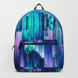 Cavernous Glitch - Abstract Pixel Art Backpack