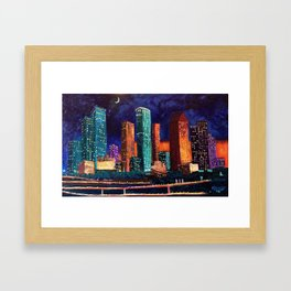 Expression Houston Framed Art Print