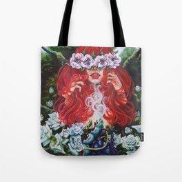 Thee Red Queen's Garden Tote Bag