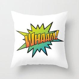 Whaam! Throw Pillow