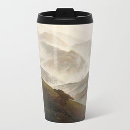 Mountain with Ascending Mist by Caspar David Friedrich Travel Mug
