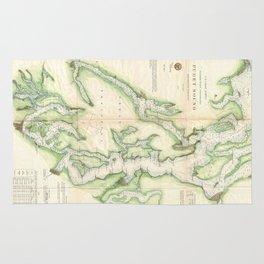 Vintage Map of The Puget Sound (1867) Rug
