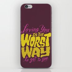 Mad Men: Loving You is the Worst Way to Get to You iPhone & iPod Skin